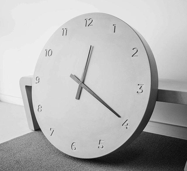 A large 900 MM dia clock ready to ship! #concrete #clock #interiordesign #architecture #clock #design