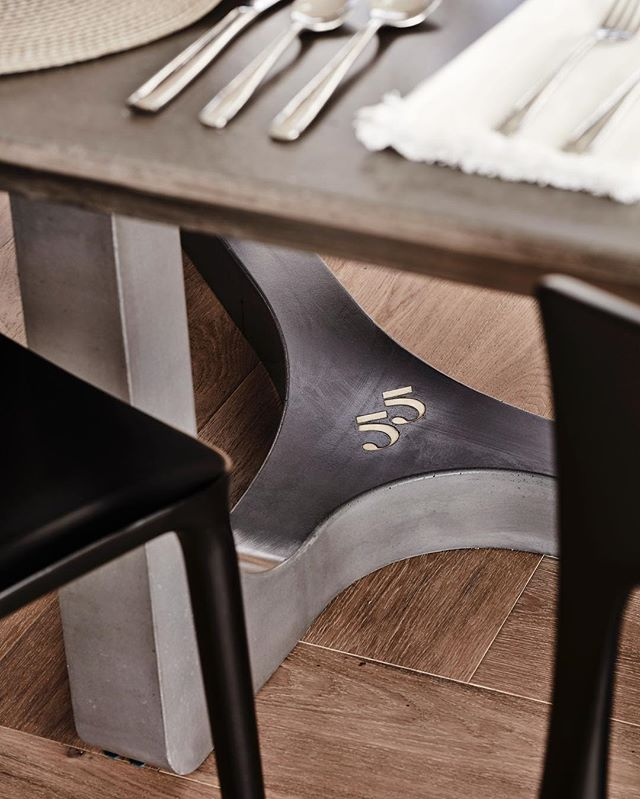 This distinctive table design evolved to form a stunning feature piece. #concrete #table #table55 #interiordesign #architecture #interiordecorating #furniture #madeinaustralia