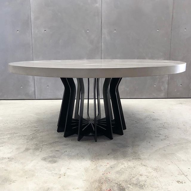 Sometimes it's all about the base! #concrete #steel #table #interiordesign #architecture #madeinaustralia #furnituredesign