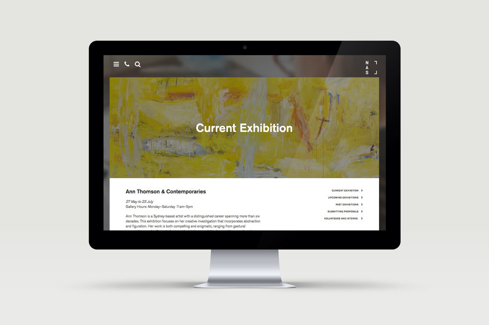 NAS — National Art School. Website design.