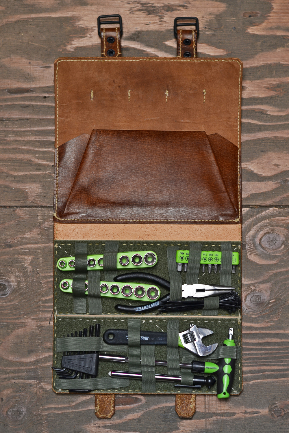 Tool Roll - Dark Brown