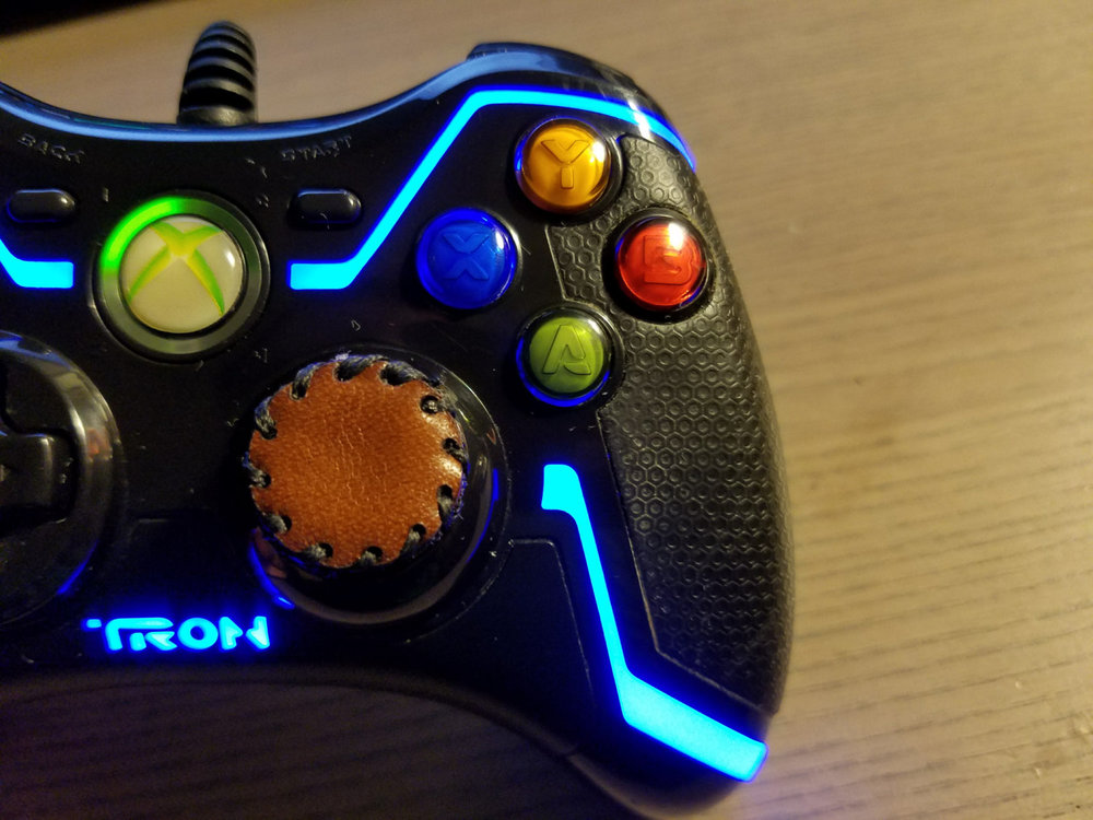 Leather Controller Grip - Dark Brown