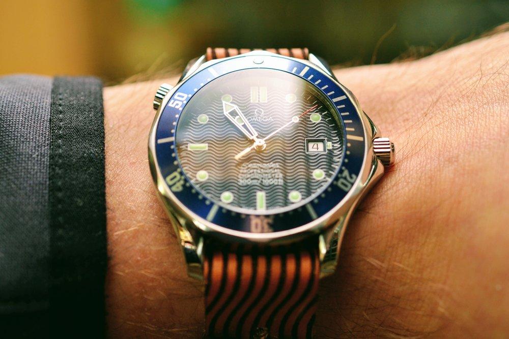 Wave Stud Watch Strap - Natural Sun Dye