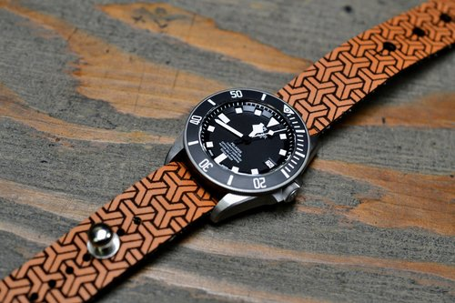 55efd7e1dbf Iso-Celtic Stud Passthrough Watch Strap - Pattern Series    Model No. 3