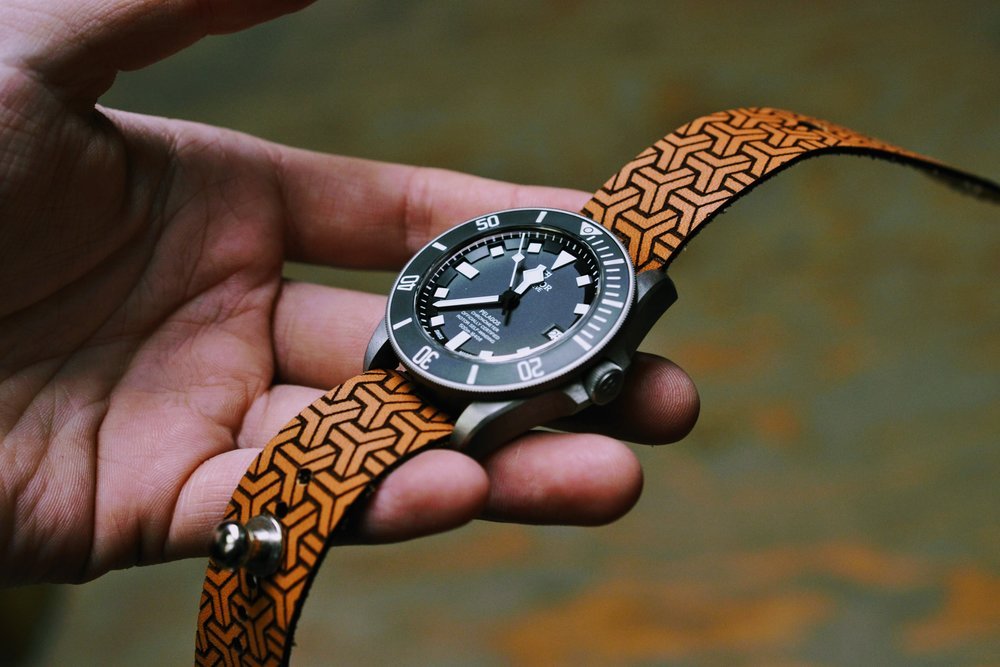 *NEW* Iso-Celtic Stud Watch Strap - Natural Sun Dye