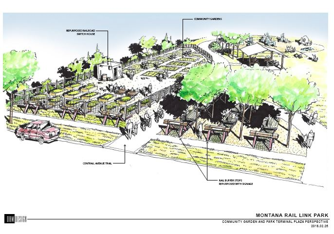 Image: Montana Rail Link Park Design Drawing *All Credit to MRL Design Team
