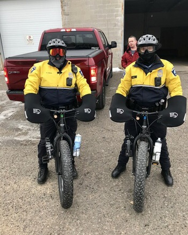 Minneaoplis Police riding Defiant durning Super Bowl week.