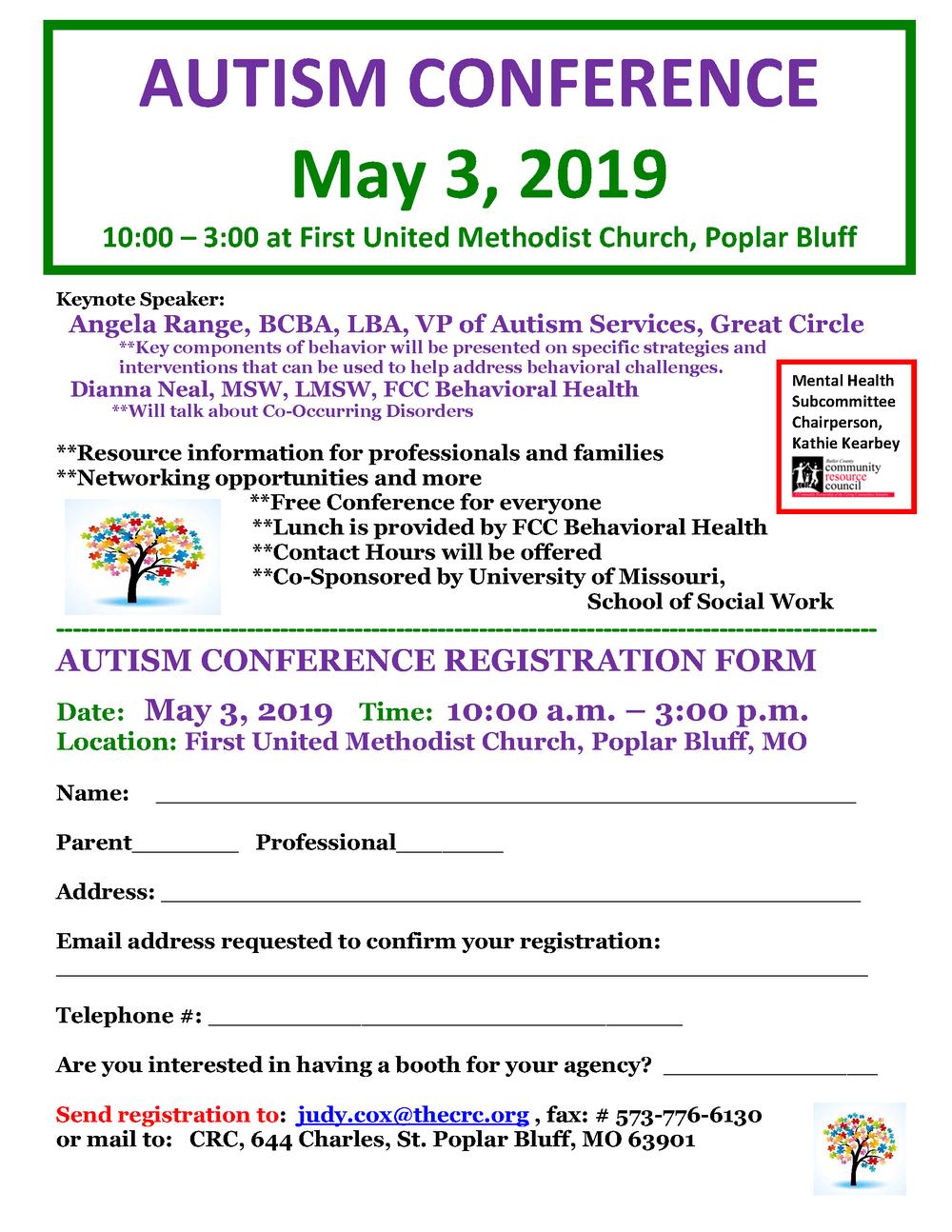Autism Conference Registration Flyer - 2019.png