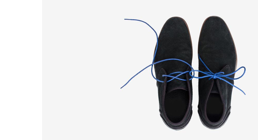 Brilliant Blue Shoelaces