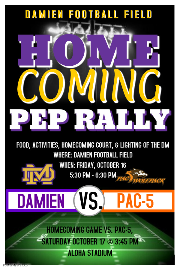 Damien Homecoming Pep Rally Damien Memorial School