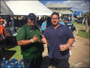 "Ana Tuiasosopo '81 and Kalai Balutski '83 at ""600"" Superbowl Party hosted by Brad Buffett '83"