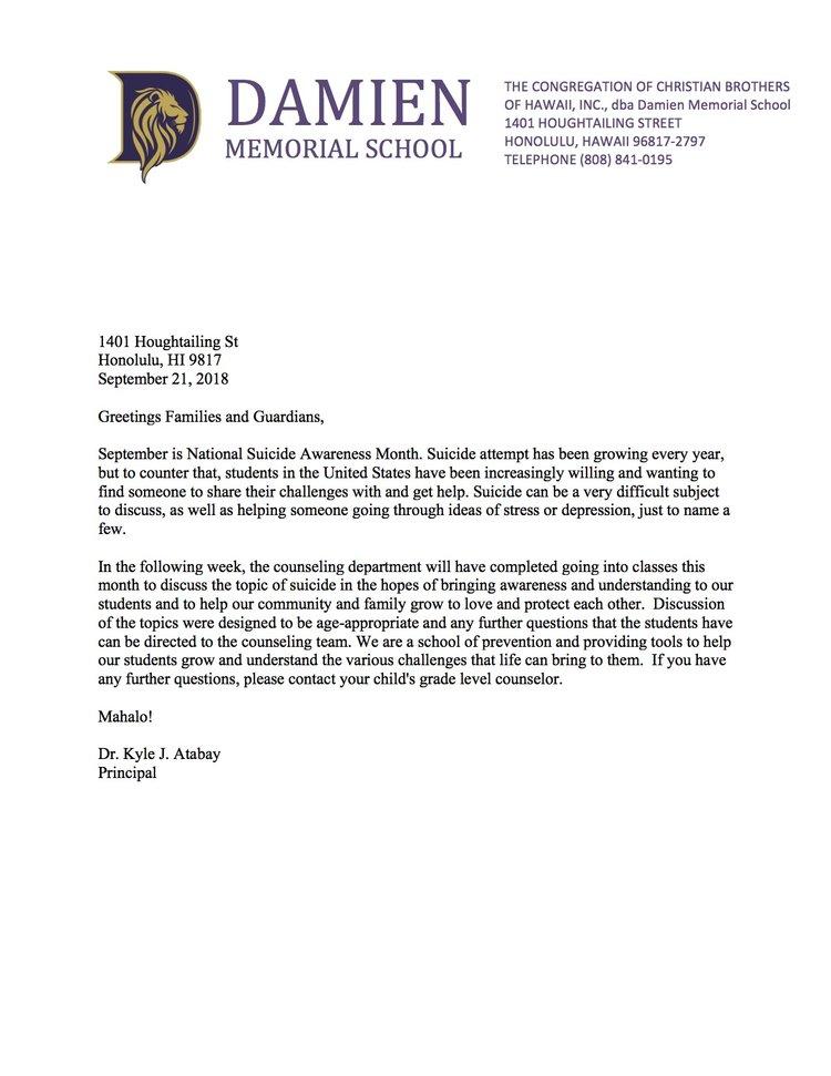 News Blog Damien Memorial School