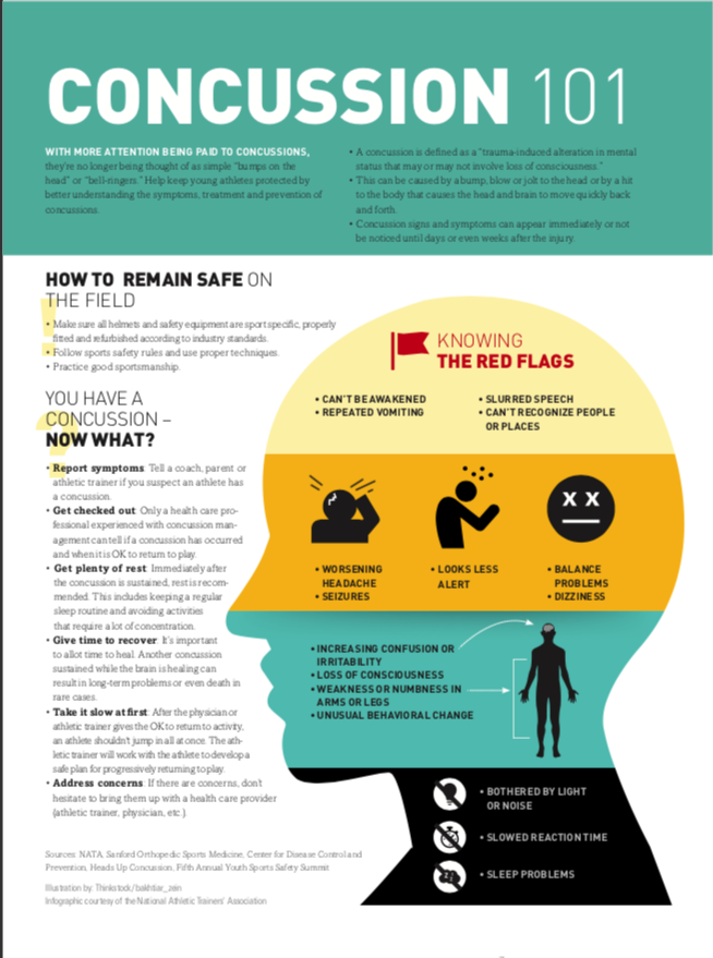 What is a concussion? - A concussion is a disturbance of brain function caused by a blow or violent shaking of the head, neck or body. The head does not have to receive a direct blow to result in a concussion, forces can be transmitted throughout the body. Please watch the attached video for more information.