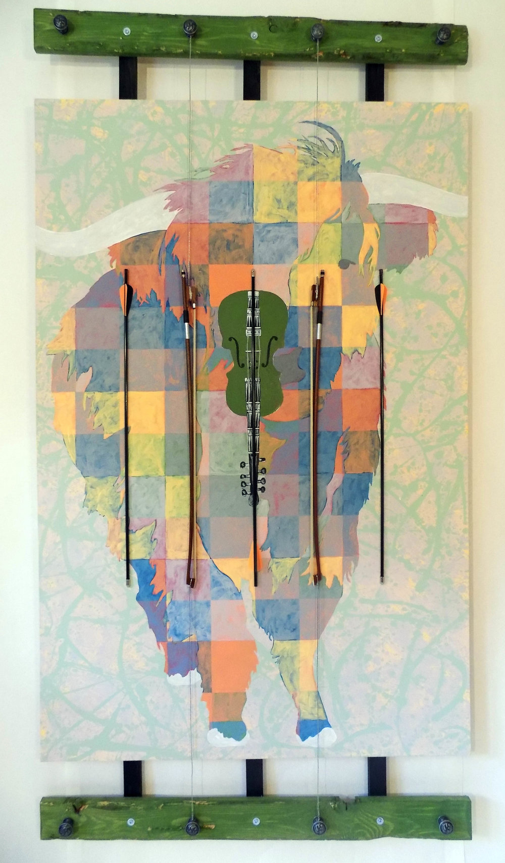 "HIGHLAND COW - 72"" x 38"" - 2016"