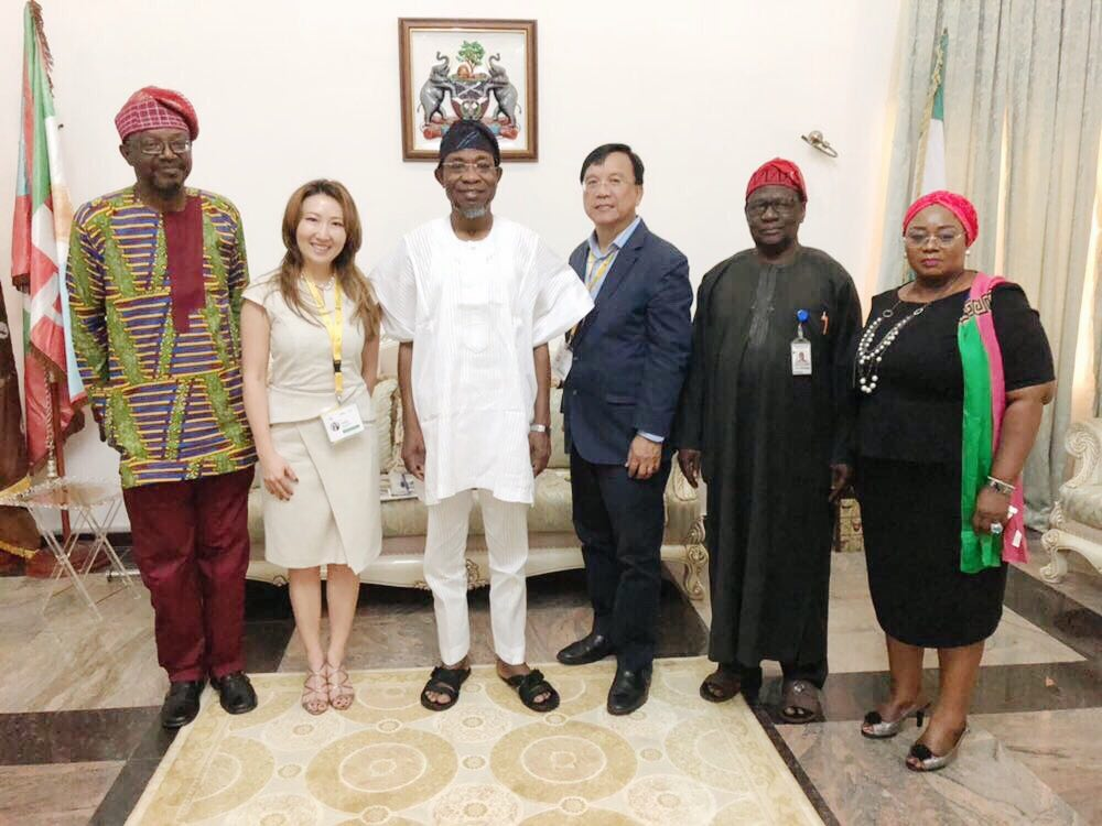 Meeting with the governor of Osun State