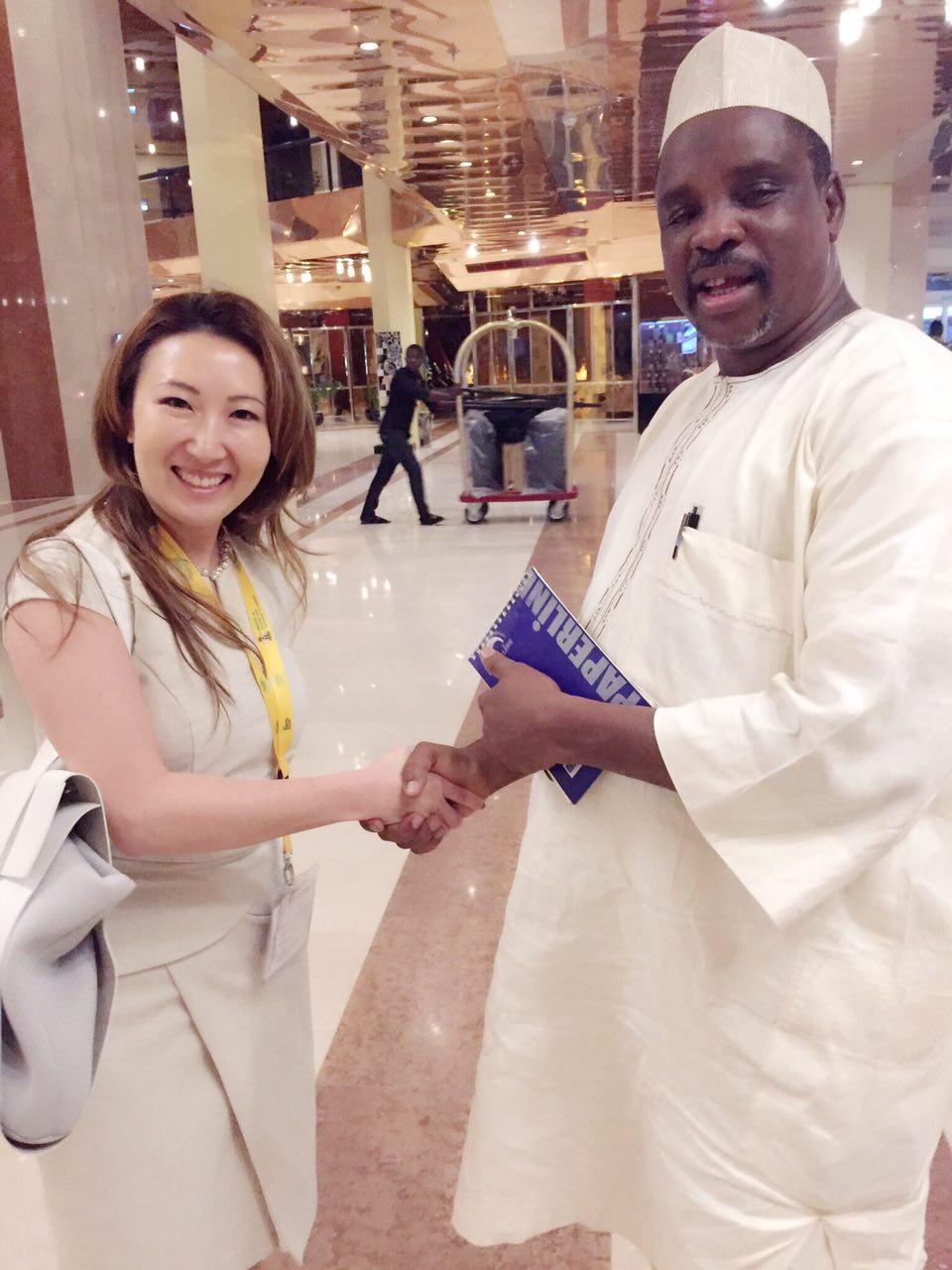 Handshake with Iro Umar from Universal Basic Education Commission!