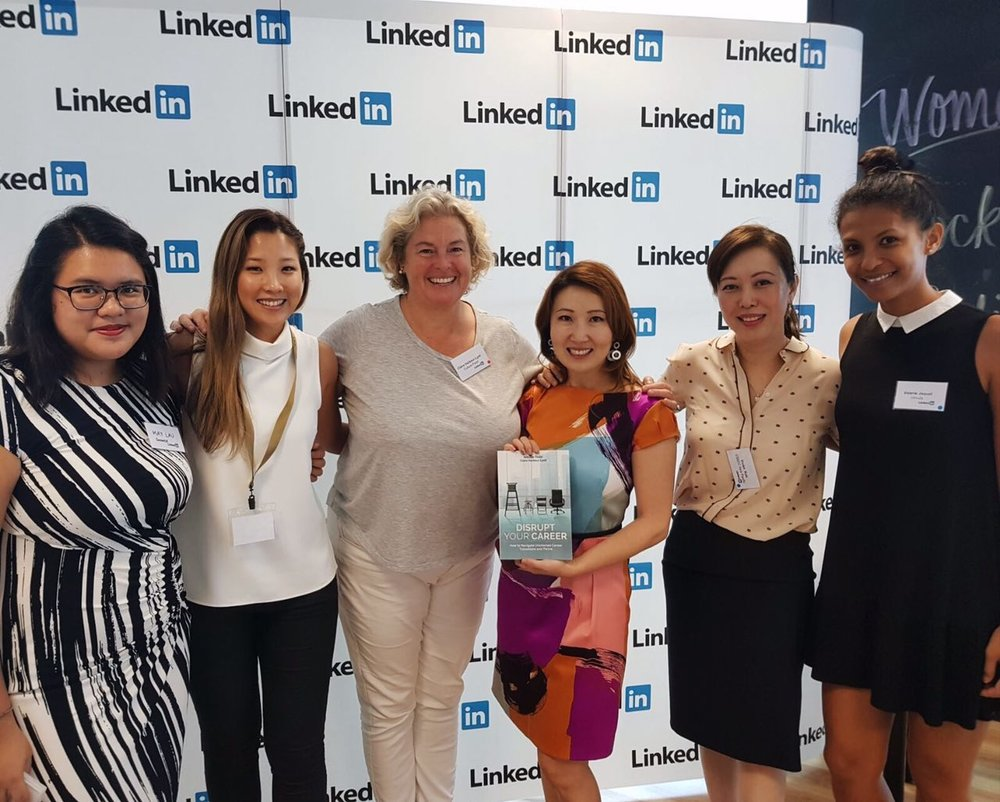 So-Young with the incredible Claire Harbour-Lyell and other amazing women at the event!