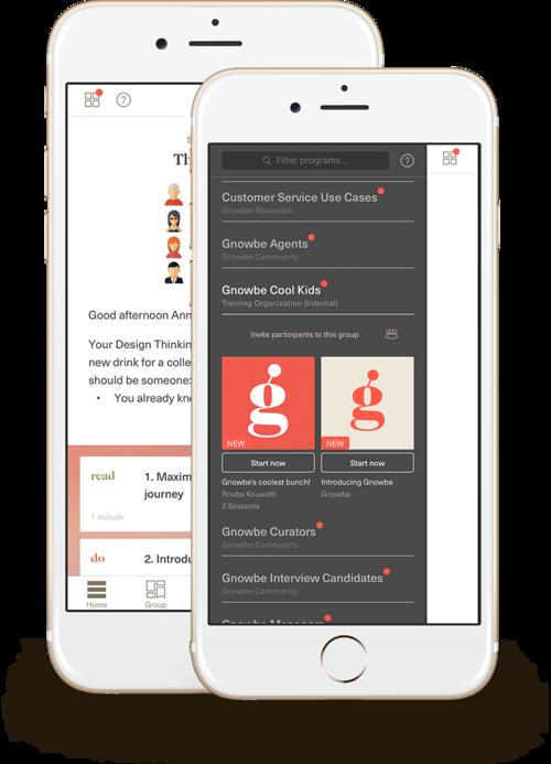 Gnowbe App 2.0 Screenshots