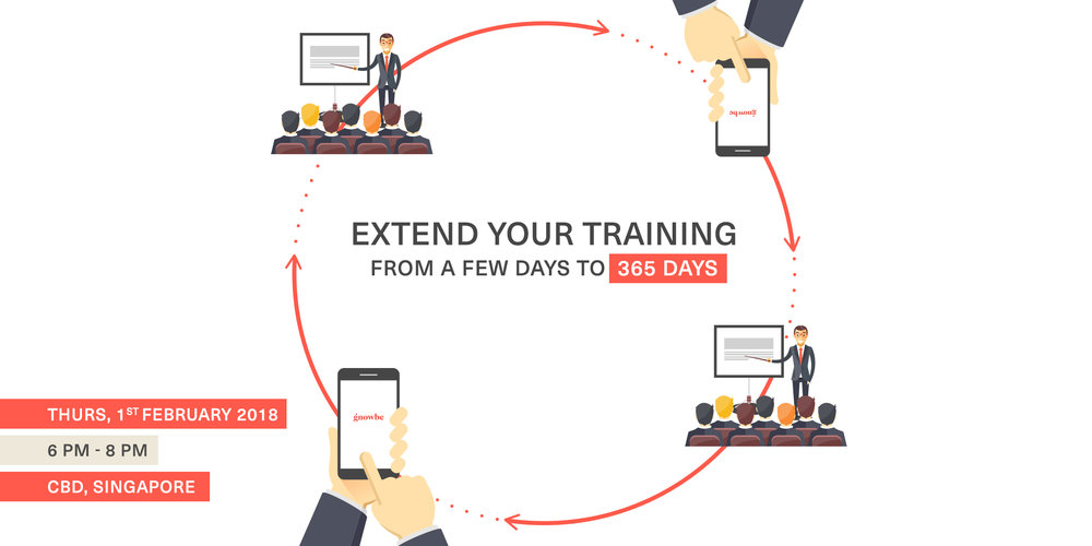 Gnowbe's Blended Learning Demo Event: Extend Your Training From a Few Days to 365 Days