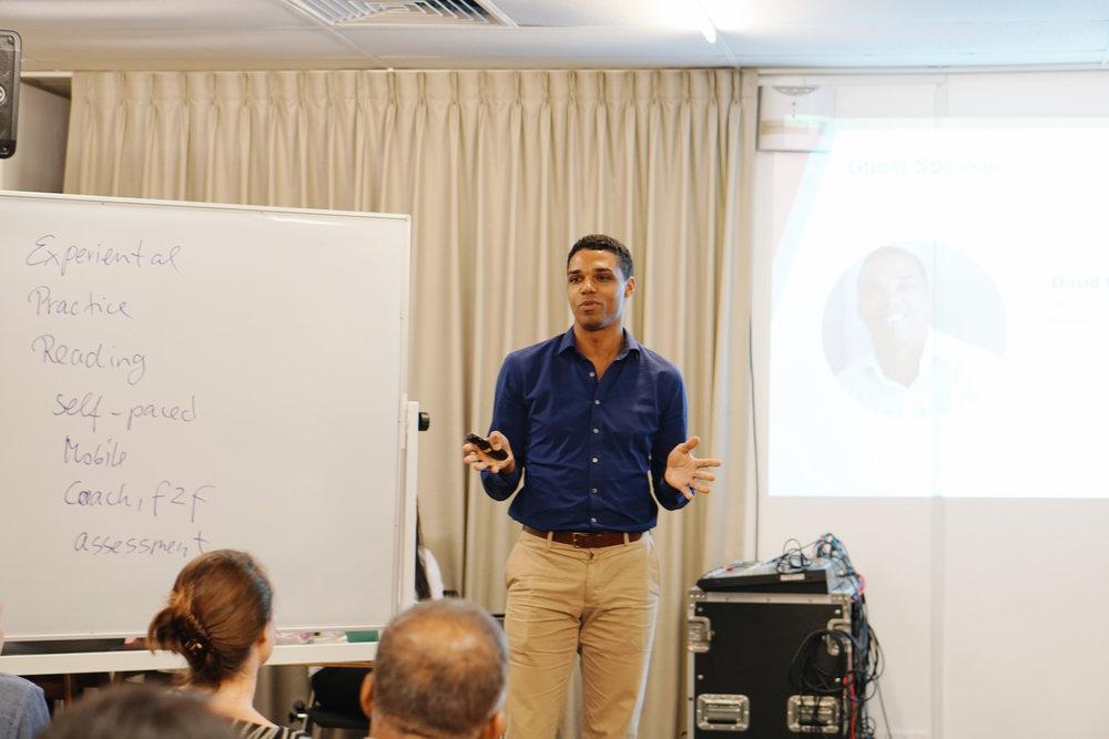 David Nosibor,Innovation Evangelist - Head of APAC Digital Innovation Team speaking on his team's experience using gnowbe