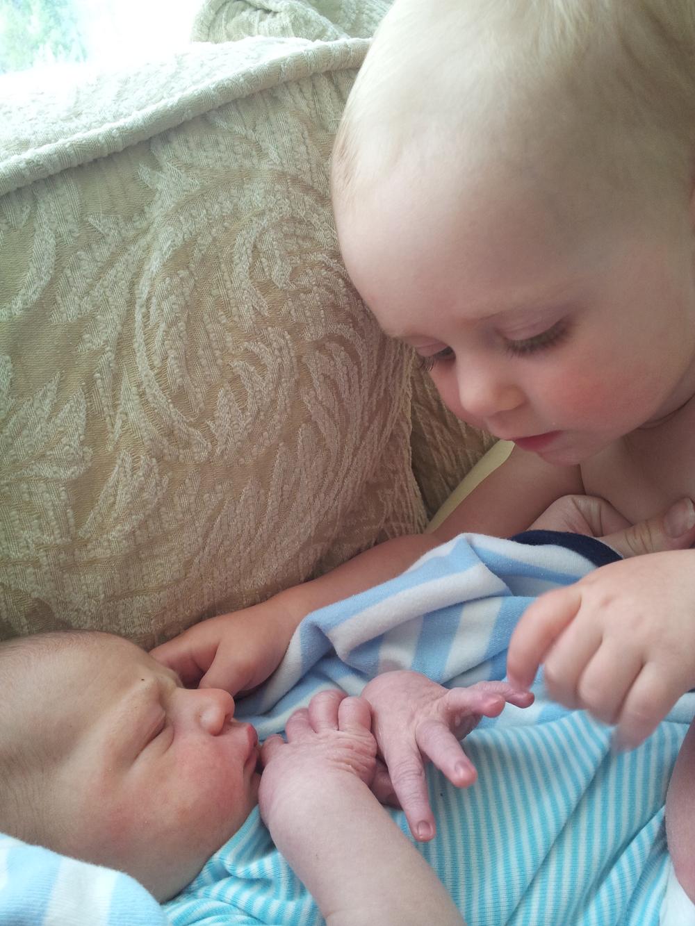 Baby with Newborn