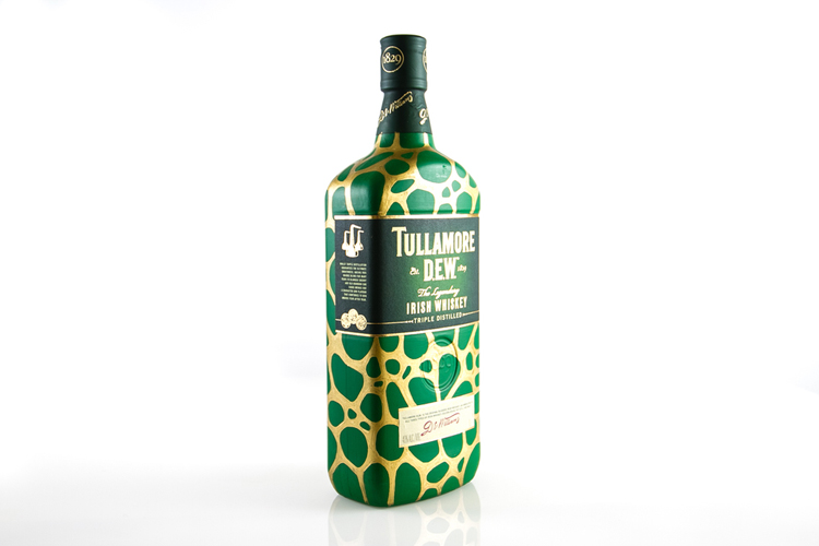 Tullamore Dew / Ink on whiskey bottle / Year of 2013