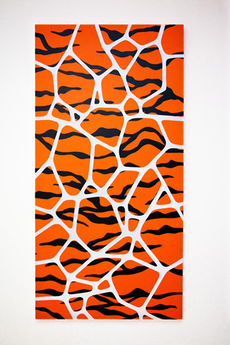 "Wild Pattern / 24"" x 48"" Acrylic on canvas / Year of 2012"