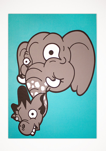 "Eleraffe / 24"" x 30"" Acrylic on canvas / Year of 2012"
