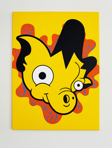 "Yellow Fever / 24"" x 30"" Acrylic on canvas / Year of 2011"