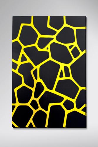 "Black Pattern / 24"" x 30"" Acrylic on canvas / Year of 2011"