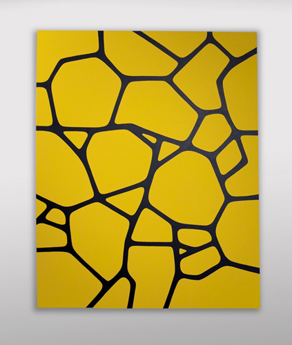 """Yellow Pattern / 24"""" x 30"""" Acrylic on canvas / Year of 2011"""