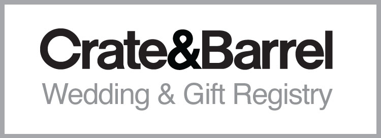 View our registry at Crate and Barrel! To view our selections, please click the link above or find our registry under David Kim or Audry Lin.