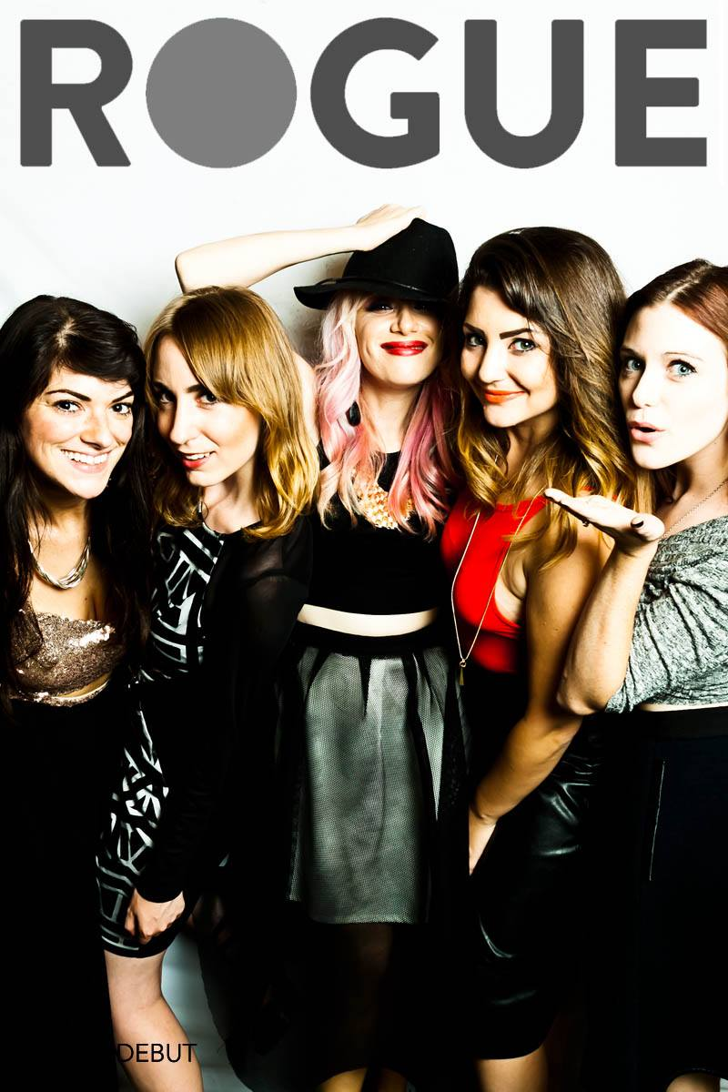 The Rogue ladies in the photo booth