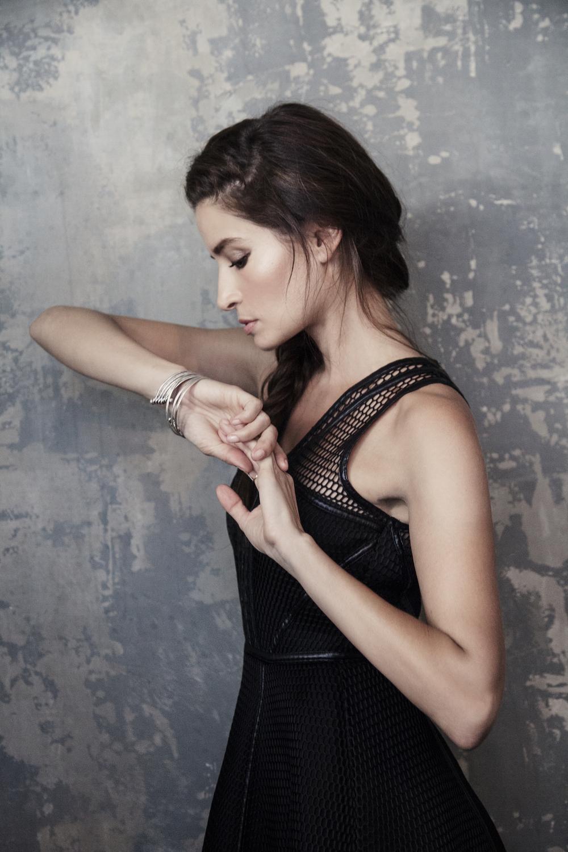 dress, Forever Unique. bracelets, Satya Jewelry.ring, Rocksbox.