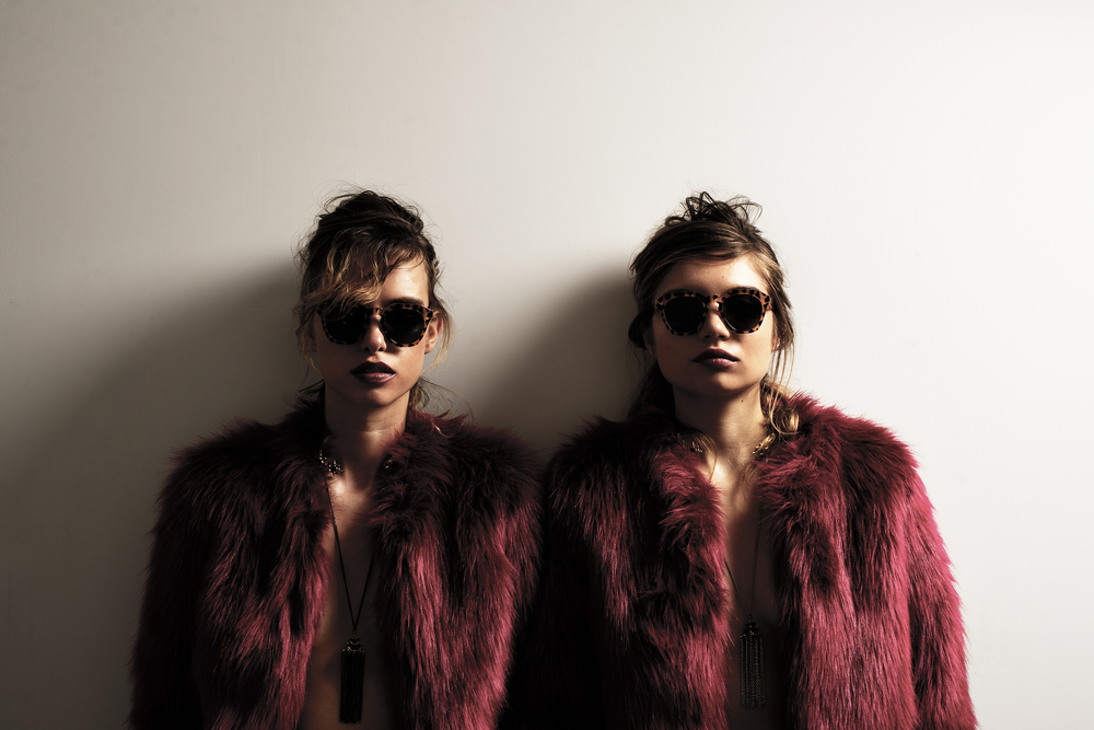 jackets, Lucy Paris. sunglasses, Crap Eyewear. necklaces, Maison Morgana.