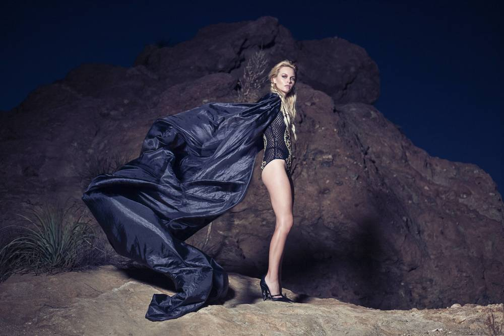 bodysuit, Pedram Couture. cape, Amato Couture by Furne One. heels, Becki Coakley.