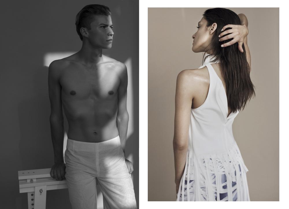 White Pants:Agnieszka Kopek /Dress: Maya Baczynska