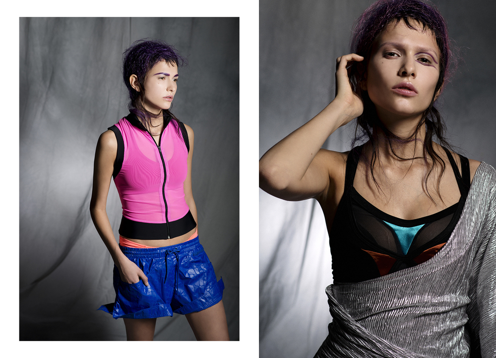 Top :  Eniqua  /  Bra :  Iracrema Scharf  /  Bikini Bottom :  Watercult  /  Shorts : Stella McCartney  Right /  Dress :  Couture One  /  Bodysuit :  DRESP
