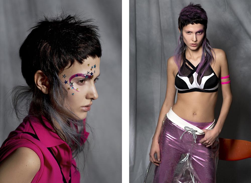 Dress : Lacoste /  Bra :  DRESP   Right /  Bra :  DRESP  /  Bracelets :  Eniqua  /  Pants : Vivienne Uischner