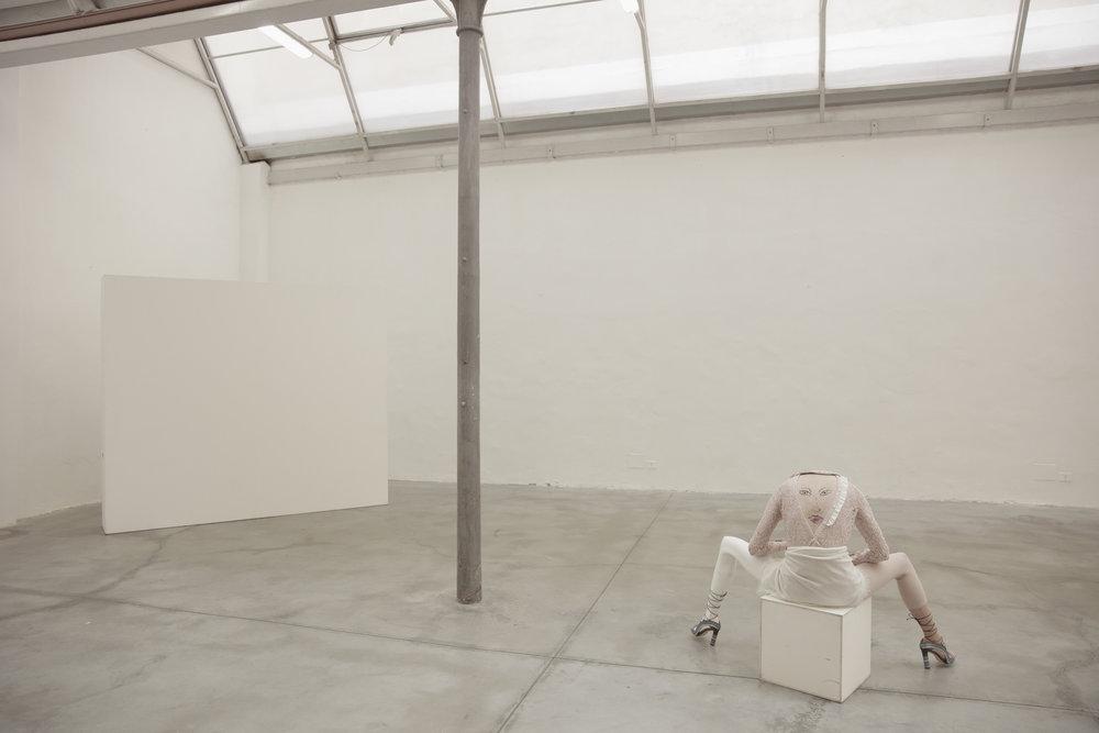 Jumpsuit: Deha / Scarf: Abstract / Collar: Tara Jarmon / Shoes: Paula Cademartori