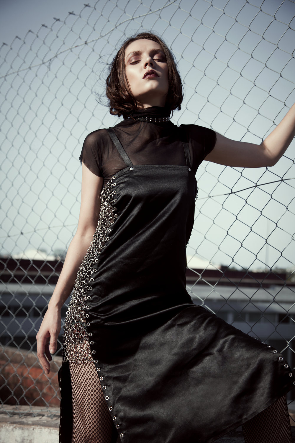 Top: Homage / Dress: Stephanie Schafer / Belt: Zephyr Collection