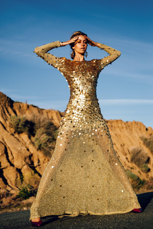 Dress: QUIN / Shoes: Vezlaez / Earrings: Joey Galon / Bracelet: NMD / Rings: Morra Designs