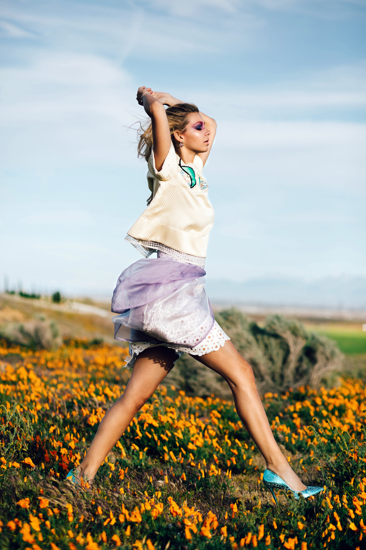 Shirt / Skirt: Lotuz / Earrings & Rings: Jewelry Bar USA Shoes: Vezlaez
