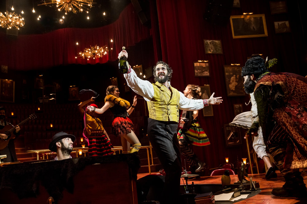 Josh Groban and the cast of Natasha, Pierre and the Great Comet of 1812.