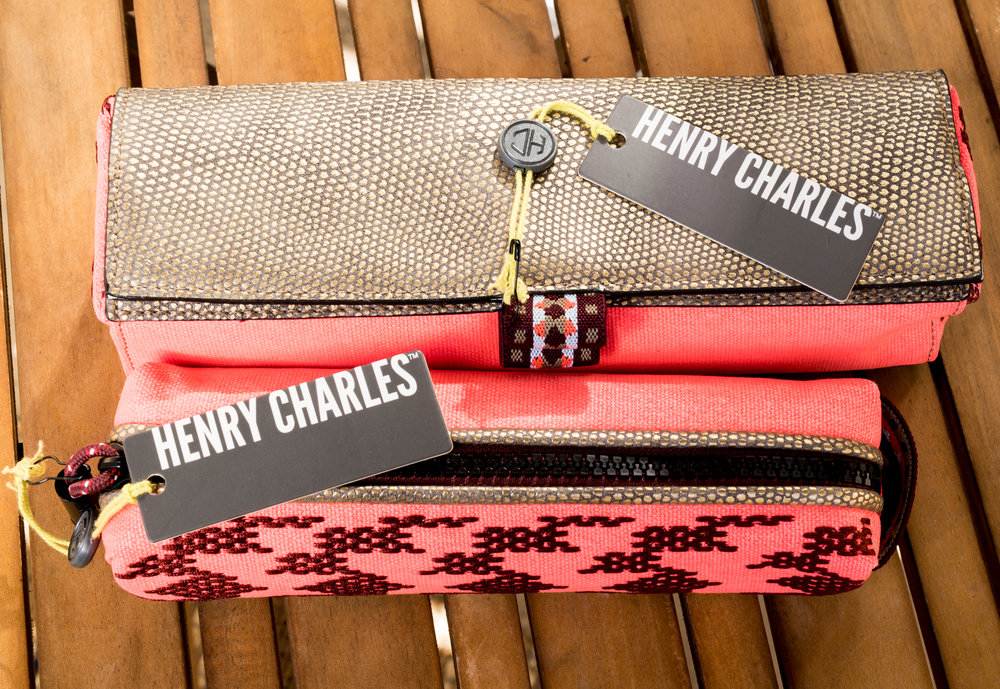 The Henry Charles Southwest Sunrise Collection (SWC) Brush Bag and Pencil Case.