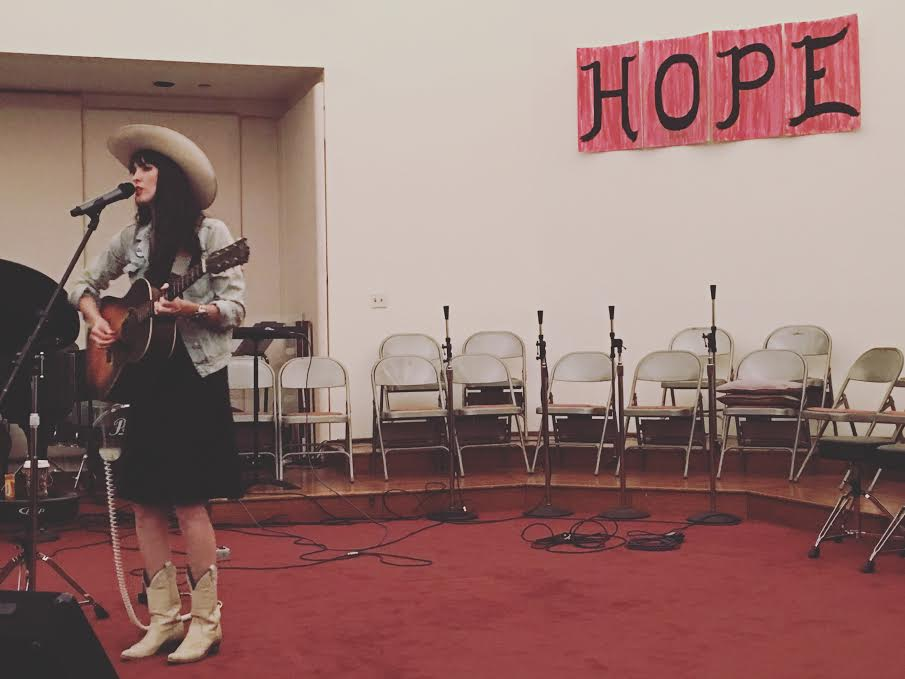 "Jaime Wyatt at the Hope Lutheran Church for ""City Roots."""