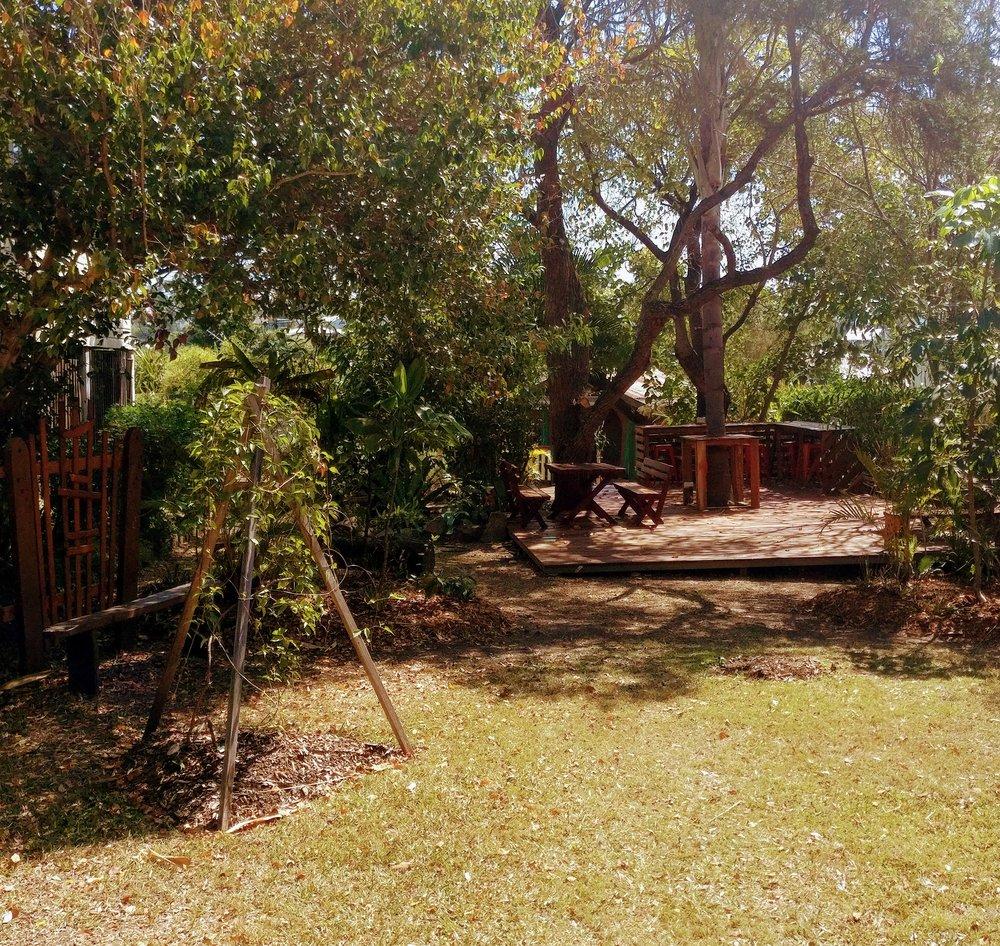 Our meditation and workshop garden