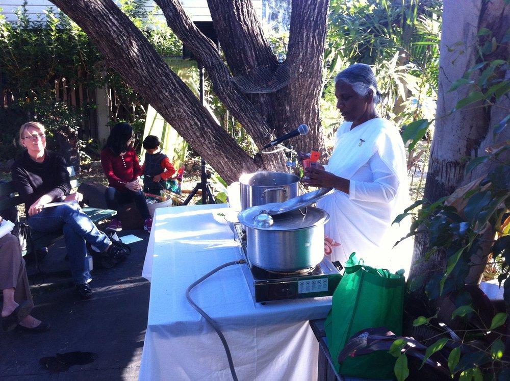 Vegetarian cooking workshop