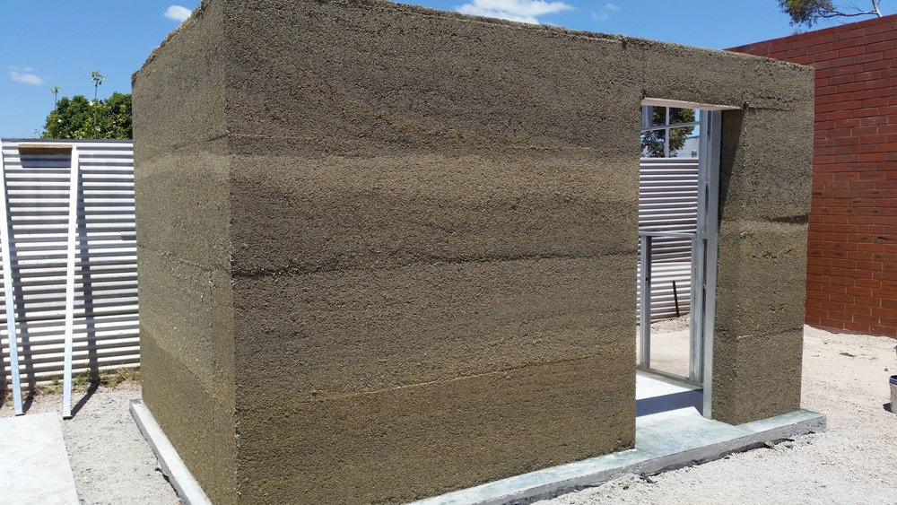 Bare hemp walls