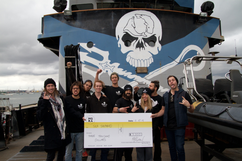 In early August 2015, the artwork sold, enabling MGRA to donate $3,000 to Sea Shepherd.